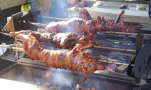 cochon grillé barbecue